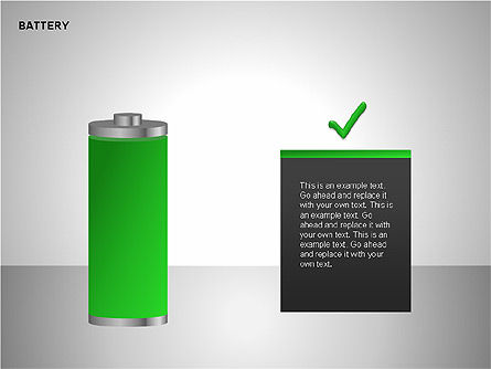 Battery Charge Diagrams, Slide 13, 00106, Stage Diagrams — PoweredTemplate.com
