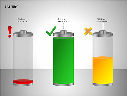 Battery Charge Diagrams, Slide 15, 00106, Stage Diagrams — PoweredTemplate.com