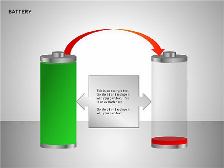 Battery Charge Diagrams, Slide 4, 00106, Stage Diagrams — PoweredTemplate.com