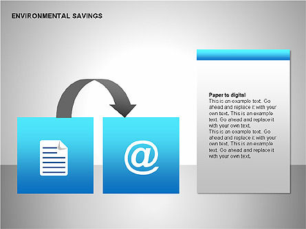 Environmental Savings Icons, Slide 10, 00107, Icons — PoweredTemplate.com