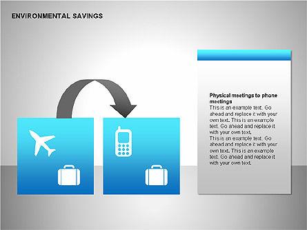 Environmental Savings Icons, Slide 12, 00107, Icons — PoweredTemplate.com