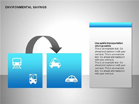 Environmental Savings Icons, Slide 13, 00107, Icons — PoweredTemplate.com