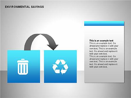 Environmental Savings Icons, Slide 14, 00107, Icons — PoweredTemplate.com