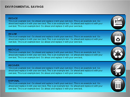 Environmental Savings Icons Slide 4
