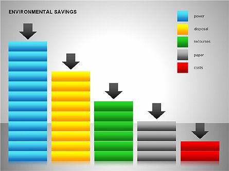 Environmental Savings Icons, Slide 7, 00107, Icons — PoweredTemplate.com