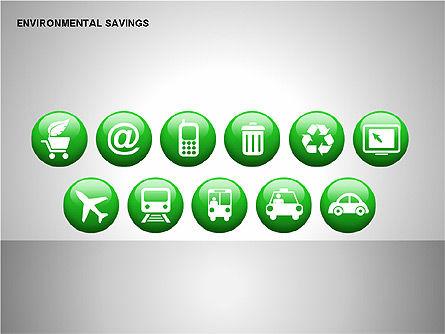 Environmental Savings Icons, Slide 9, 00107, Icons — PoweredTemplate.com