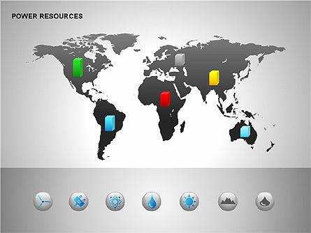 Power Resources Icons, Slide 12, 00108, Icons — PoweredTemplate.com
