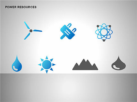Power Resources Icons, Slide 2, 00108, Icons — PoweredTemplate.com