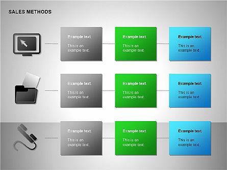 Sales Methods Diagrams, Slide 14, 00109, Shapes — PoweredTemplate.com