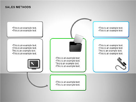 Sales Methods Diagrams, Slide 15, 00109, Shapes — PoweredTemplate.com