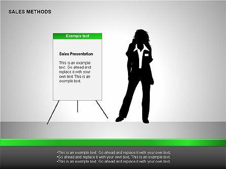 Sales Methods Diagrams, Slide 3, 00109, Shapes — PoweredTemplate.com