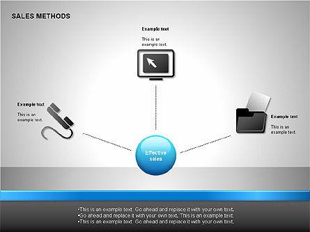 Sales Methods Diagrams, Slide 4, 00109, Shapes — PoweredTemplate.com