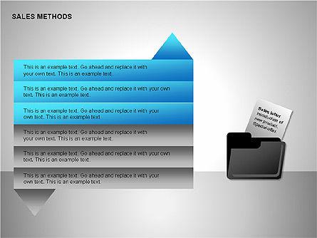 Sales Methods Diagrams, Slide 8, 00109, Shapes — PoweredTemplate.com