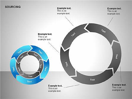 Business Sourcing Diagrams, Slide 10, 00110, Process Diagrams — PoweredTemplate.com