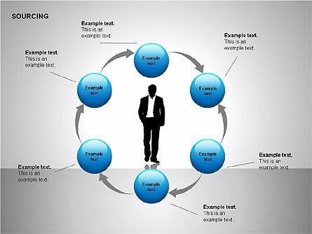 Business Sourcing Diagrams, Slide 11, 00110, Process Diagrams — PoweredTemplate.com
