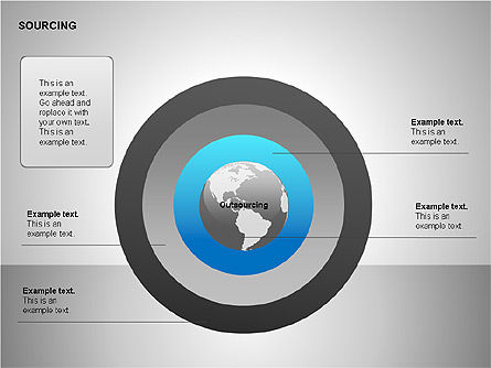 Business Sourcing Diagrams, Slide 12, 00110, Process Diagrams — PoweredTemplate.com