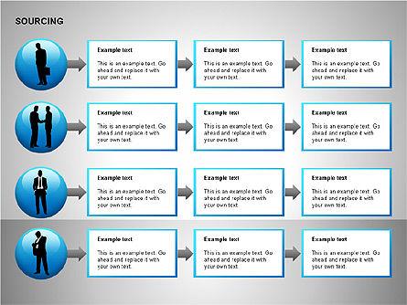 Business Sourcing Diagrams, Slide 13, 00110, Process Diagrams — PoweredTemplate.com