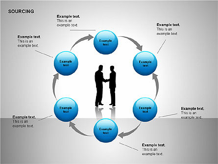 Business Sourcing Diagrams, Slide 15, 00110, Process Diagrams — PoweredTemplate.com