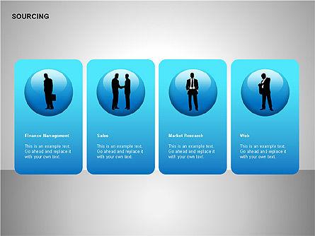 Business Sourcing Diagrams, Slide 2, 00110, Process Diagrams — PoweredTemplate.com