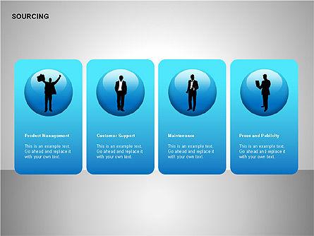 Business Sourcing Diagrams, Slide 3, 00110, Process Diagrams — PoweredTemplate.com