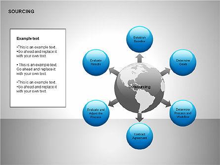 Business Sourcing Diagrams, Slide 4, 00110, Process Diagrams — PoweredTemplate.com