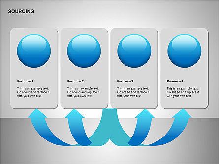 Business Sourcing Diagrams, Slide 5, 00110, Process Diagrams — PoweredTemplate.com