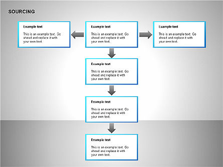 Business Sourcing Diagrams, Slide 6, 00110, Process Diagrams — PoweredTemplate.com