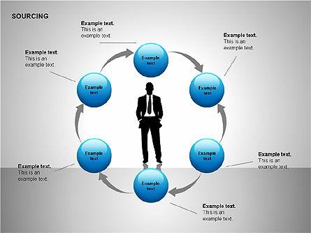 Business Sourcing Diagrams, Slide 7, 00110, Process Diagrams — PoweredTemplate.com