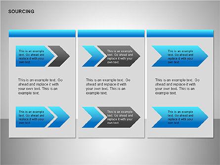 Business Sourcing Diagrams, Slide 8, 00110, Process Diagrams — PoweredTemplate.com