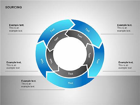 Business Sourcing Diagrams, Slide 9, 00110, Process Diagrams — PoweredTemplate.com