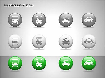 Transportation Icons, Slide 11, 00111, Icons — PoweredTemplate.com