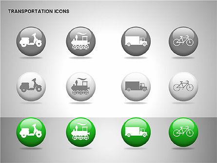 Transportation Icons, Slide 12, 00111, Icons — PoweredTemplate.com