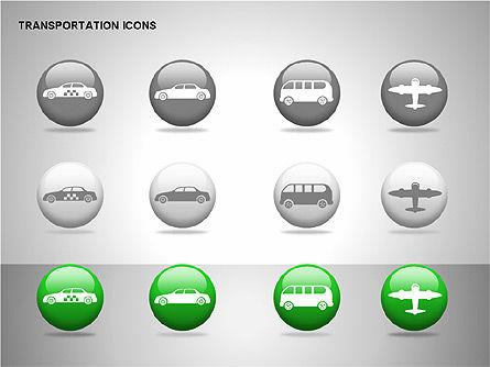 Transportation Icons, Slide 13, 00111, Icons — PoweredTemplate.com