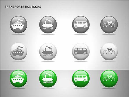 Transportation Icons, Slide 14, 00111, Icons — PoweredTemplate.com