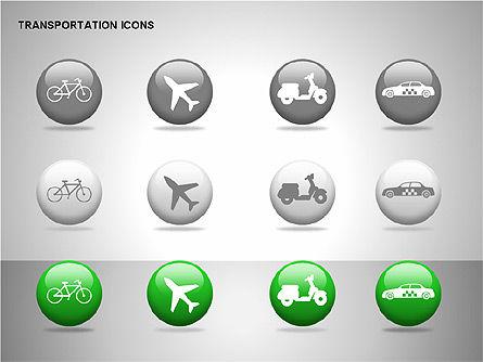 Transportation Icons, Slide 15, 00111, Icons — PoweredTemplate.com