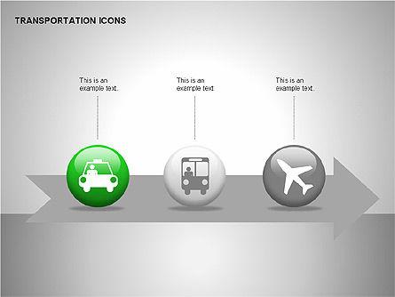 Transportation Icons, Slide 5, 00111, Icons — PoweredTemplate.com