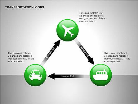 Transportation Icons, Slide 6, 00111, Icons — PoweredTemplate.com