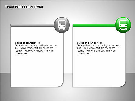 Transportation Icons, Slide 7, 00111, Icons — PoweredTemplate.com