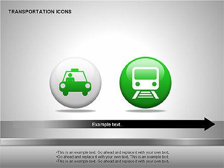 Transportation Icons, Slide 8, 00111, Icons — PoweredTemplate.com