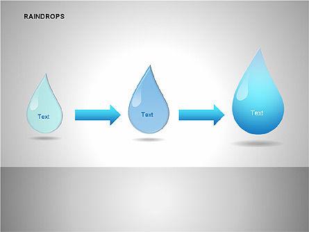 Raindrops Diagrams, Slide 10, 00112, Shapes — PoweredTemplate.com