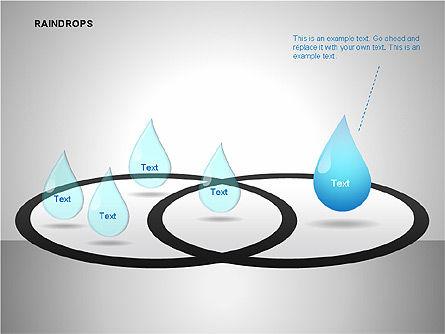 Raindrops Diagrams, Slide 11, 00112, Shapes — PoweredTemplate.com