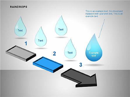 Raindrops Diagrams, Slide 12, 00112, Shapes — PoweredTemplate.com
