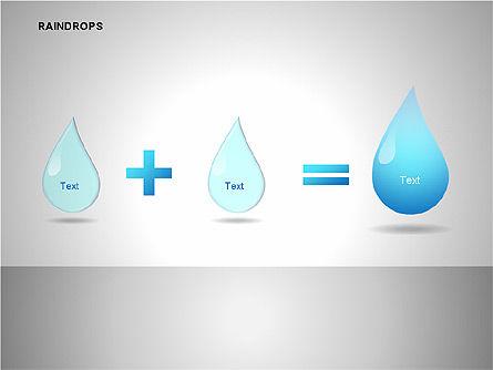 Raindrops Diagrams, Slide 15, 00112, Shapes — PoweredTemplate.com