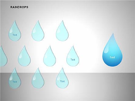 Raindrops Diagrams, Slide 5, 00112, Shapes — PoweredTemplate.com
