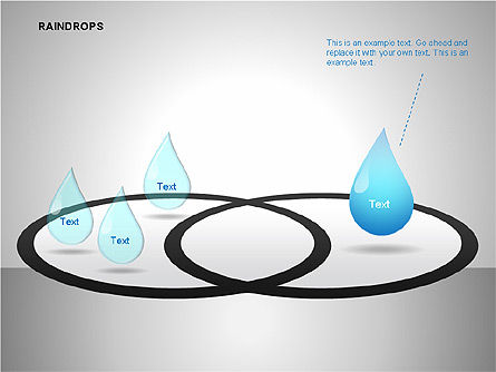 Raindrops Diagrams, Slide 9, 00112, Shapes — PoweredTemplate.com
