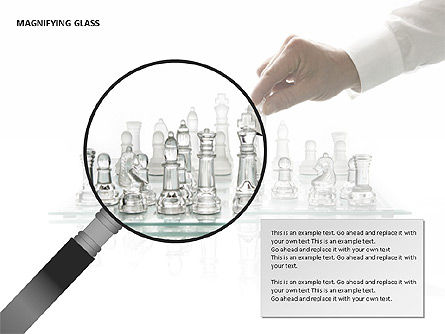 Magnifying Glass Shapes, Slide 10, 00114, Shapes — PoweredTemplate.com