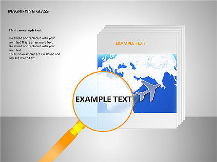 Magnifying Glass Shapes, Slide 11, 00114, Shapes — PoweredTemplate.com