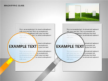 Magnifying Glass Shapes, Slide 12, 00114, Shapes — PoweredTemplate.com