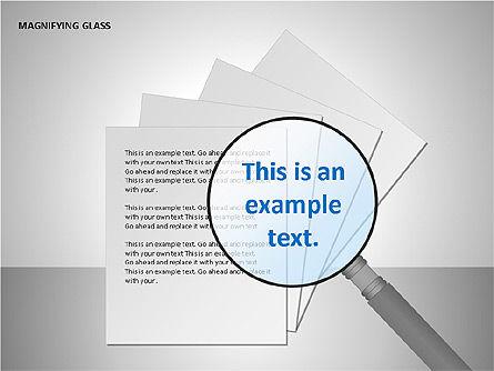 Magnifying Glass Shapes, Slide 14, 00114, Shapes — PoweredTemplate.com