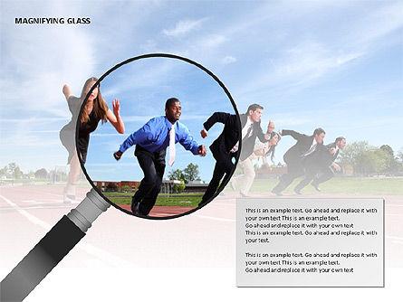 Magnifying Glass Shapes, Slide 15, 00114, Shapes — PoweredTemplate.com